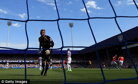 Gaffe: QPR keeper Robert Green was at fault for Swansea's opening goal