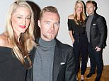 LONDON, ENGLAND - SEPTEMBER 20:  Storm Uechtritz and Ronan Keating attend the Pringle Of Scotland show during London Fashion Week Spring/Summer 2016 on September 20, 2015 in London, England.  (Photo by Tristan Fewings/Getty Images)