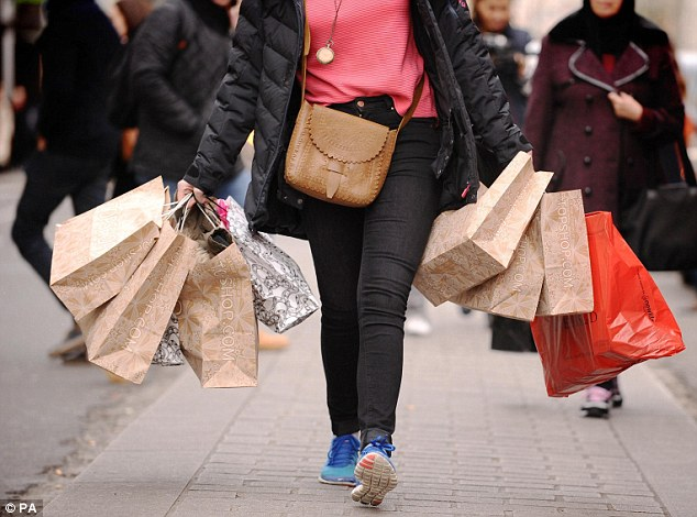 Boom time: Retailers have reported the fastest rise in sales in four years