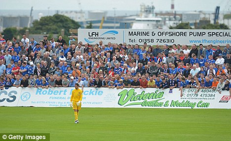 Changed days: Rangers were held to a 2-2 draw at Peterhead on Saturday