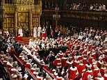 Queen Elizabeth II sits alongside the Duke of Edinburgh as she delivers her speech in the House of Lords during the State Opening of Parliament at the Palace of Westminster in London. PRESS ASSOCIATION Photo. Picture date: Wednesday May 27, 2015. See PA story POLITICS Speech. Photo credit should read: Alastair Grant/PA Wire