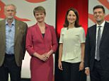 Labour leadership contenders (left - right) Jeremy Corbyn, Yvette Cooper, Liz Kendall and Andy Burnham after a live debate on Sky News held at Sage in St Mary's Square, Gateshead. PRESS ASSOCIATION Photo. Picture date: Thursday September 3, 2015. Photo credit should read: Owen Humphreys/PA Wire