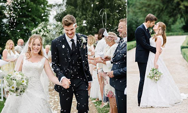 YouTubers Tanya Burr and Jim Chapman marry, with guests including Zoella