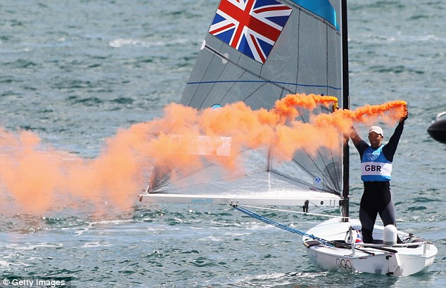 He who flares, wins: Ainslie came from behind to win the title on on the final day in the medal race