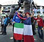 epa04939022 French and Italian supporters cheer before the start of the Rugby World Cup 2015 Pool D match between France and Italy, in Twickenham, Britain, 19 September 2015.  EPA/FACUNDO ARRIZABALAGA EDITORIAL USE ONLY/ NO COMMERCIAL SALES / NOT USED IN ASSOCATION WITH ANY COMMERCIAL ENTITY
