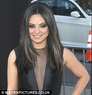 All grown up: Mila at the premiere of her film Ted in June