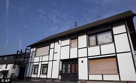 'Everyone knew': the house in Fluterschen near Koblenz, western Germany, where 48-year-old Detlef S. lived with his family. One of his victims said everyone in the village knew about the abuse