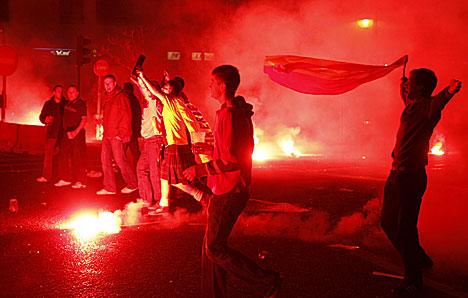 Aberdeen fans Madrid