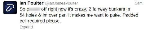 Poulter tweet