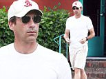 Picture Shows: Jon Hamm  September 22, 2015\n \n Actor Jon Hamm stops by a dry cleaner in Los Angeles, California after visiting an eye doctor. Last night Jon won an Emmy for Outstanding Lead Actor in a Drama Series for the hit TV series 'Mad Men'.\n \n Non Exclusive\n UK RIGHTS ONLY\n \n Pictures by : FameFlynet UK � 2015\n Tel : +44 (0)20 3551 5049\n Email : info@fameflynet.uk.com