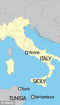 Map of Italy with islands