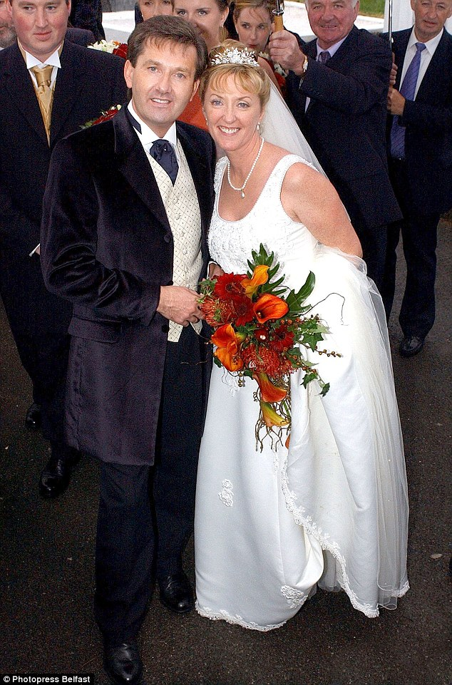 'Very happy in our current relationship': Majella McLennan - who married the Irish crooner in 2002 - admitted she had no fears about the Russian dancer