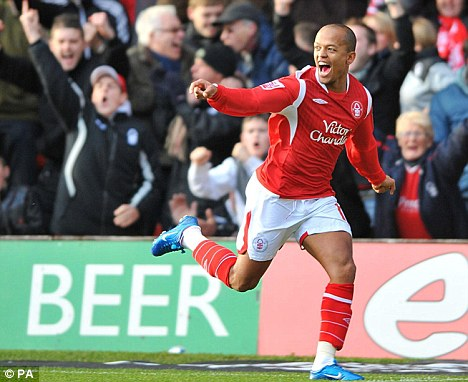 Decisive: Robert Earnshaw took advantage of a dithering Coventry defence