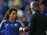 Chelsea's doctor Eva Carneiro appears to have an argument with Jose Mourinho manager of Chelsea during the Barclays Premier League match between Chelsea and Swansea played at Stamford Bridge, London, England.   Editorial use only. No merchandising. For Football images FA and Premier League restrictions apply inc. no internet/mobile usage without FAPL license - for details contact Football Dataco Mandatory Credit: Photo by Michael Zemanek/BPI/REX (4931278ae)