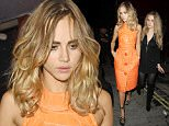 Love Magazine London Fashion Week Party Held At Loulou's Private Members Club In London With Various Celebs Turning To The Exclusive Party.  Pictured: Suki Waterhouse, Immy Waterhouse Ref: SPL1133806  210915   Picture by: Splash News  Splash News and Pictures Los Angeles: 310-821-2666 New York: 212-619-2666 London: 870-934-2666 photodesk@splashnews.com