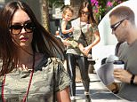 *** Fee of £150 applies for subscription clients to use images before 22.00 on 200915 ***\nEXCLUSIVE ALLROUNDERMegan Fox takes her son Noah Shannon Green out shopping\nFeaturing: Megan Fox, Noah Shannon Green\nWhere: Los Angeles, California, United States\nWhen: 18 Sep 2015\nCredit: WENN.com