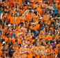 SYRACUSE, NY - SEPTEMBER 12:  Syracuse Orange student section cheers on their team against the Wake Forest Demon Deacons on September 12, 2015 at The Carrier Dome in Syracuse, New York.  Syracuse defeats Wake Forest 30-17.  (Photo by Brett Carlsen/Getty Images)