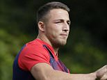 Rugby Union - England Training - Pennyhill Park, Bagshot, Surrey - 22/9/15  England's Sam Burgess during training  Action Images via Reuters / Henry Browne  Livepic