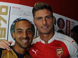 LONDON, ENGLAND - JULY 28:  Theo Walcott and Olivier Giroud of Arsenal during the 1st team photocall at Emirates Stadium on July 28, 2015 in London, England.  (Photo by David Price/Arsenal FC via Getty Images)