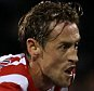 Stoke City's Peter Crouch scores his sides first goal