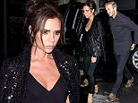 22 September 2015. Victoria Beckham and David Beckham seen arriving at her dinner party at her shop on Dover Street this evening.  Credit: Ben Eade/GoffPhotos.com   Ref: KGC-102