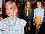 LONDON, ENGLAND - SEPTEMBER 21:  Lily Allen attends the Love Magazine miu miu London Fashion Week party at Loulou's on September 21, 2015 in London, England.  (Photo by David M. Benett/Dave Benett/Getty Images for Love Magazine & miu miu)