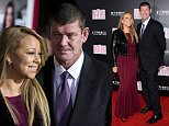 "Mariah Carey, left, and James Packer attend the premiere of ""The Intern"" at the Ziegfeld Theatre on Monday, Sept. 21, 2015, in New York. (Photo by Evan Agostini/Invision/AP)"