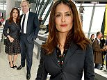 LONDON, ENGLAND - SEPTEMBER 21:  Salma Hayek and Francois-Henri Pinault attend the Christopher Kane show during London Fashion Week SS16 at Sky Garden on September 21, 2015 in London, England.  (Photo by David M. Benett) *** Local Caption *** Salma Hayek; Francois-Henri Pinault