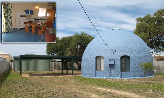 Inside the Perth blue igloo holiday home in Australia designed to withstand tornadoes
