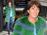 22 September 2015.\nDavina MCcall seen arriving at radio 2 in a green fluffy jacket.\nCredit: GoffPhotos.com   Ref: KGC-159\n