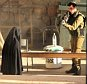 An Israeli soldier aims his rifle at a woman said to be 19-year-old Palestinian student Hadeel al-Hashlamun, before she was shot and killed by Israeli troops, at an Israeli checkpoint in the occupied West Bank city of Hebron September 22, 2015. The Israeli military said troops shot al-Hashlamun as she tried to stab a soldier. But relatives of al-Hashlamun denied the Israeli report saying she was executed. In a picture posted on Facebook, a soldier could be seen aiming his rifle at a woman said to be Hashlamun, standing a short distance away. She was completely covered in a black robe. REUTERS/Youth Against Settlements Group/Handout via Reuters????�¨????�¨ATTENTION EDITORS - THIS IMAGE HAS BEEN SUPPLIED BY A THIRD PARTY. IT IS DISTRIBUTED, EXACTLY AS RECEIVED BY REUTERS, AS A SERVICE TO CLIENTS. REUTERS IS UNABLE TO INDEPENDENTLY VERIFY THE AUTHENTICITY, CONTENT, LOCATION OR DATE OF THIS IMAGE. FOR EDITORIAL USE ONLY. NOT FOR SALE FOR MARKETING OR ADVERTISING CAMPAIGNS. NO SALES.