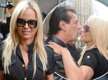 September 22, 2015: Pamela Anderson and Chuck Zito are pictured this morning leaving Sirius Radio station in New York City.\nMandatory Credit: Elder Ordonez/INFphoto.com Ref: infusny-160