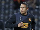 """Football - Hull City v Swansea City - Capital One Cup Third Round - The Kingston Communications Stadium - 22/9/15  Hull City's Jake Livermore during the warm up  Mandatory Credit: Action Images / Craig Brough  Livepic  EDITORIAL USE ONLY. No use with unauthorized audio, video, data, fixture lists, club/league logos or """"live"""" services. Online in-match use limited to 45 images, no video emulation. No use in betting, games or single club/league/player publications.  Please contact your account representative for further details."""