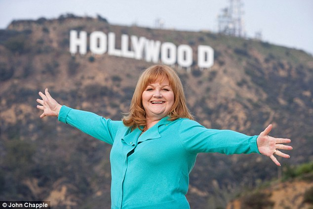 Success:Downton Abbey actress Lesley Nicol has made the most of her move to Los Angeles