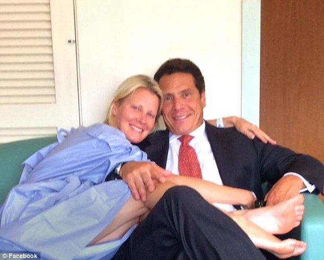 Recovery: Lee rushed to the hospital last month following unknown complications resulting from her recent double mastectomy in May (above in August with longtime boyfriend Governor Andrew Cuomo)