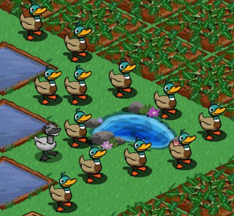 Virtual insanity: Zynga, which makes popular games like FarmVille (pictured), has been valued at between £4.4billion and £5.6billlon