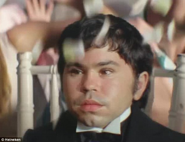 But where's Mr. Scaramanga? Watching aghast from the crowd in comic cameo is the image of classic Bond villain, Herve Villechaize - who played Nick Nack in 1974's The Man With The Golden Gun