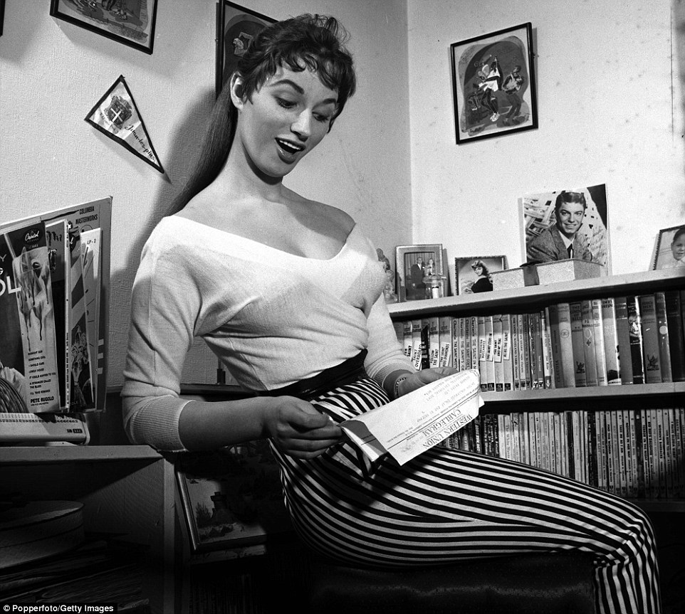She and her sister Joan started acting in British B movies, but Jackie (pictured in 1955) largely gave up acting in the 1960s