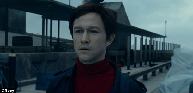 On top of the world: Sony has released a stunning new trailer for The Walk, starring Joseph Gordon-Leviitt as French daredevil Philippe Petit, whowalked a tight rope strung between New York's Twin Towers in 1974