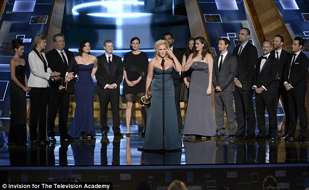 Cheers: She then went on to thank Comedy Central and 'all the suits who represent me', and everybody who has helped her