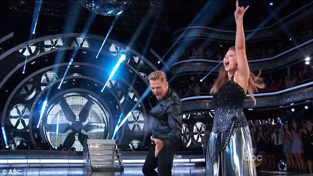 Score! The Australian teenager secured the highest points of the night as she performed the brilliant dance