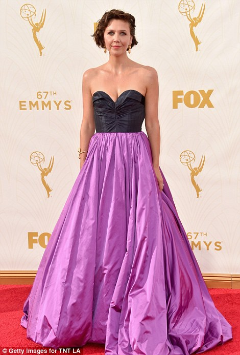 Maggie Gyllenhaal's purple gown looked more befitting of an Eighties prom