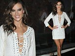 Pictured: Alessandra Ambrosio\nMandatory Credit © Amauri Nehn/Broadimage\nAlessandra Ambrosio draws attention with super low-cut white dress during the opening of Dzarm store in S¿o Paulo\n\n9/22/15, Sao Paulo, Sao Paulo, Brazil\n\nBroadimage Newswire\nLos Angeles 1+  (310) 301-1027\nNew York      1+  (646) 827-9134\nsales@broadimage.com\nhttp://www.broadimage.com