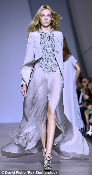 Gorgeous: Antonio Berardi showcased his Spring/Summer collection that displayed precious prints with a lightness of attitude