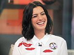 Mandatory Credit: Photo by Buzz Foto/REX Shutterstock (5158079q)  Anne Hathaway  Anne Hathaway at Good Morning America, New York, America - 23 Sep 2015