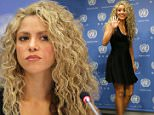 NEW YORK, NY - SEPTEMBER 22:  Singer Shakira speaks during a press conference following the Meeting Of The Minds: Investing In Early Childhood Development As The Foundation For Sustainable Development Meeting at United Nations on September 22, 2015 in New York City.  (Photo by J. Countess/Getty Images)