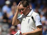 England's Gary Ballance out for 14  during day four of the Second Investec Ashes Test at Lord's, London, England.   PRESS ASSOCIATION Photo. Picture date: Sunday July 19, 2015. See PA story CRICKET England. Photo credit should read: John Walton/PA Wire. RESTRICTIONS: Editorial use only. No commercial use without prior written consent of the ECB. Still image use only no moving images to emulate broadcast. No removing or obscuring of sponsor logos. Call +44 (0)1158 447447 for further information