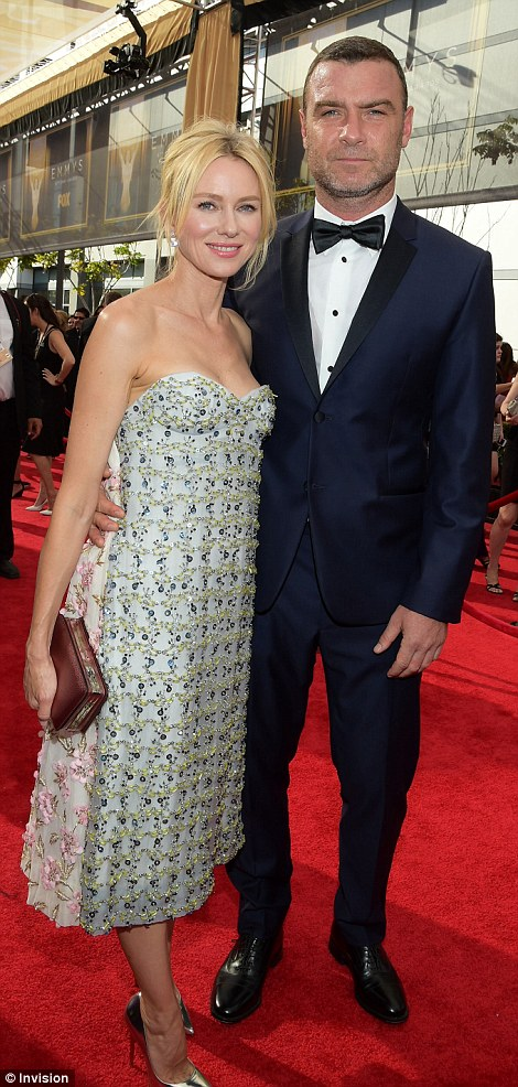 Cute couples: Naomi Watts supported longtime partner Liev Schreiber while Parks And Rec starAdam Scott was accompanied by his wife Naomi