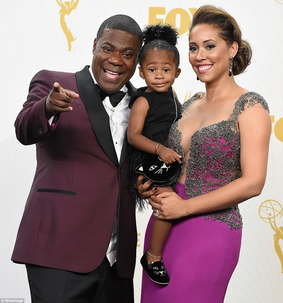 Comedian Tracy Morgan made a triumphant return to the spotlight after being involved in a serious car accident in Jue 2014. He was joined by wife  Megan Wollover and daughterMaven Sonae Morgan