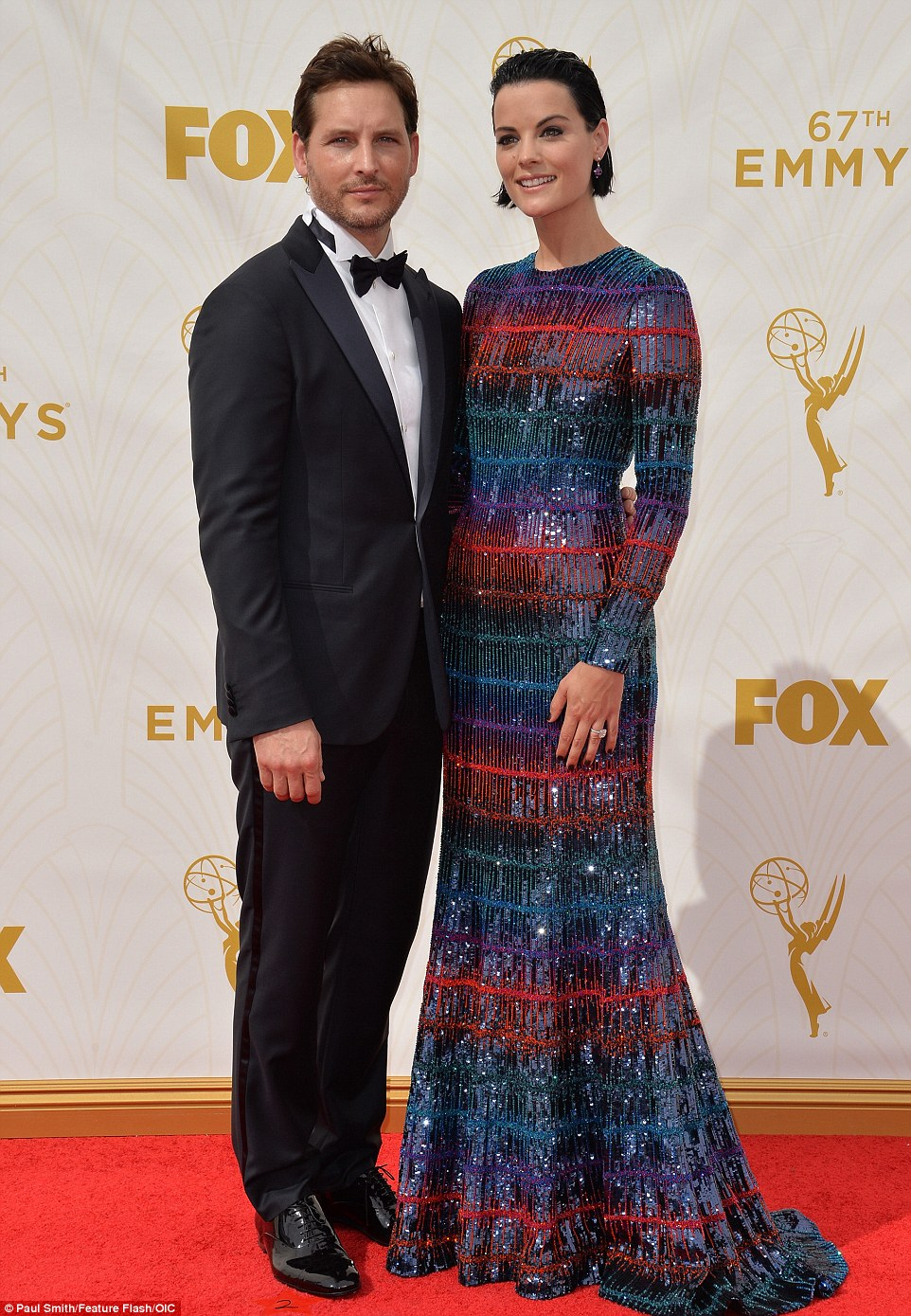 Lovebirds: Jaimie Alexander and Peter Facinelli cut a stylish couple on the red carpet
